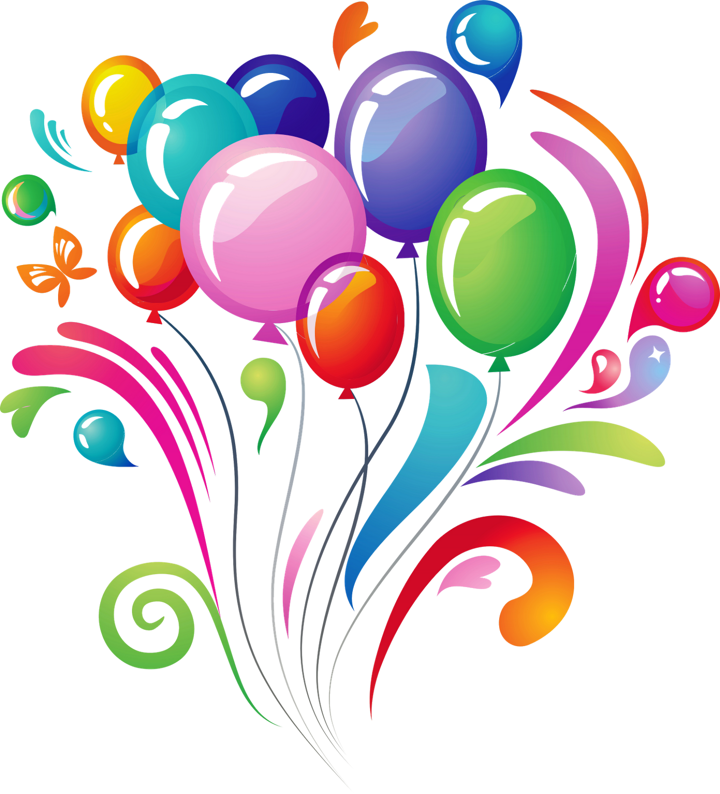 Happy birthday balloons png. Transparent images all photo