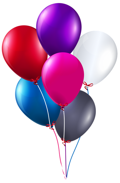 Birthday balloon png. Colorful bunch of balloons