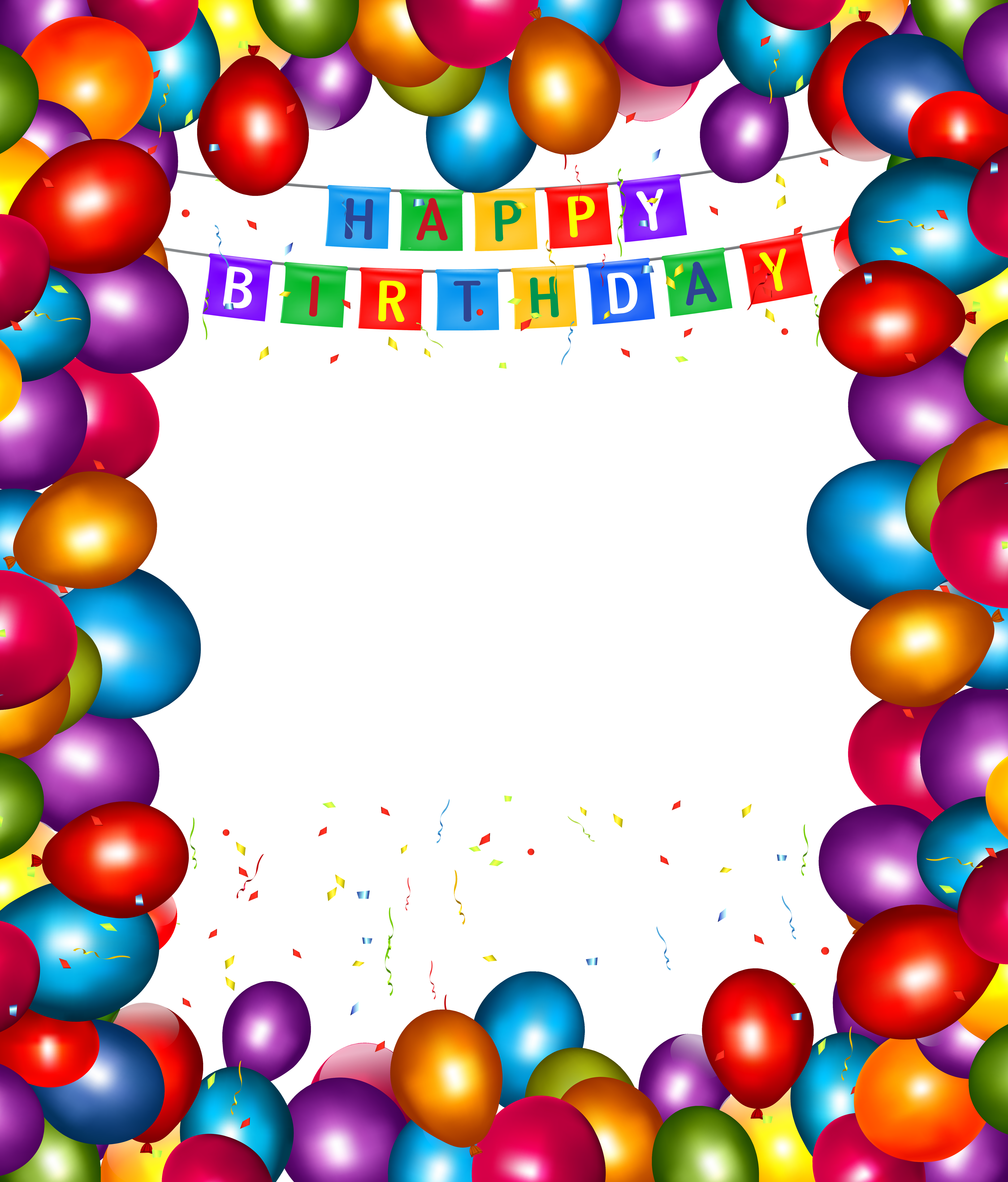 Frame happy birthday png. Transparent balloons gallery view