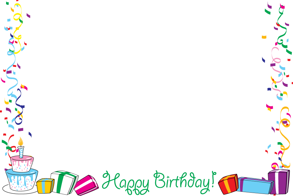 Birthday balloons border png. Free borders download clip