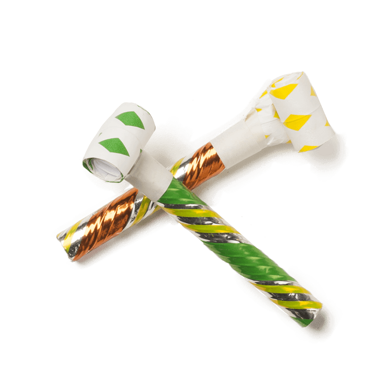 Party blower png. Good fortune blowers
