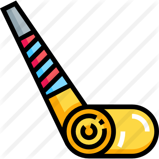 Party blower png. Free birthday and icons