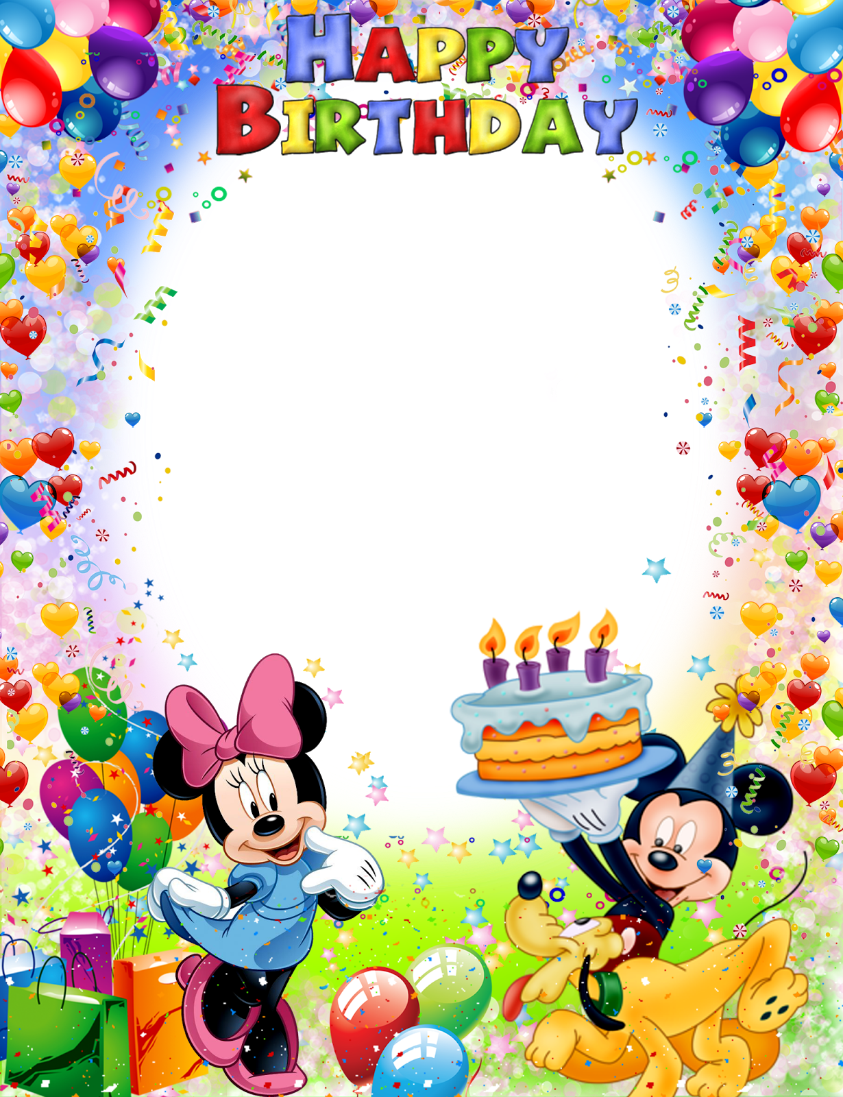 Birthday borders png. Cartoons pinterest birthdays
