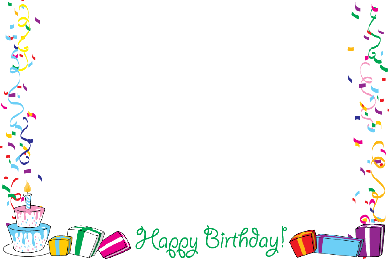 Birthday frames and borders png. Image
