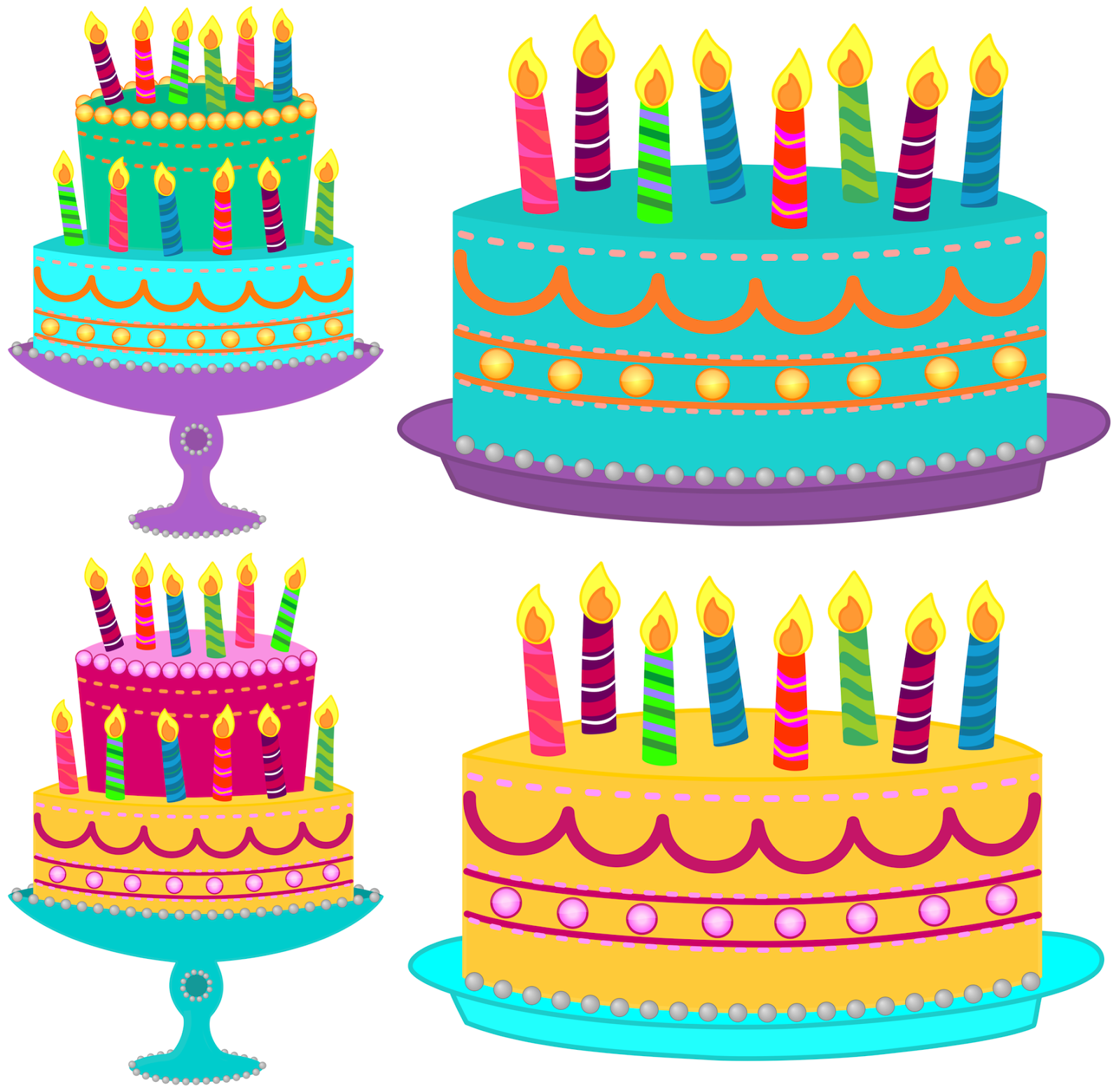 Birthday cake clipart. July blue with no