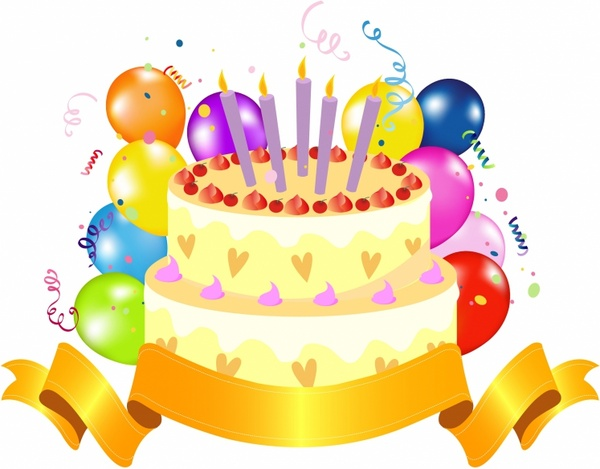 Birthday cake clipart. Top unique happy golden