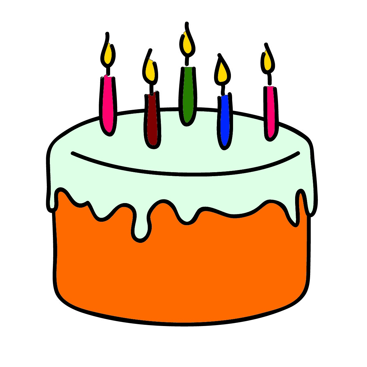 Birthday cake clipart. Free photo pie candles