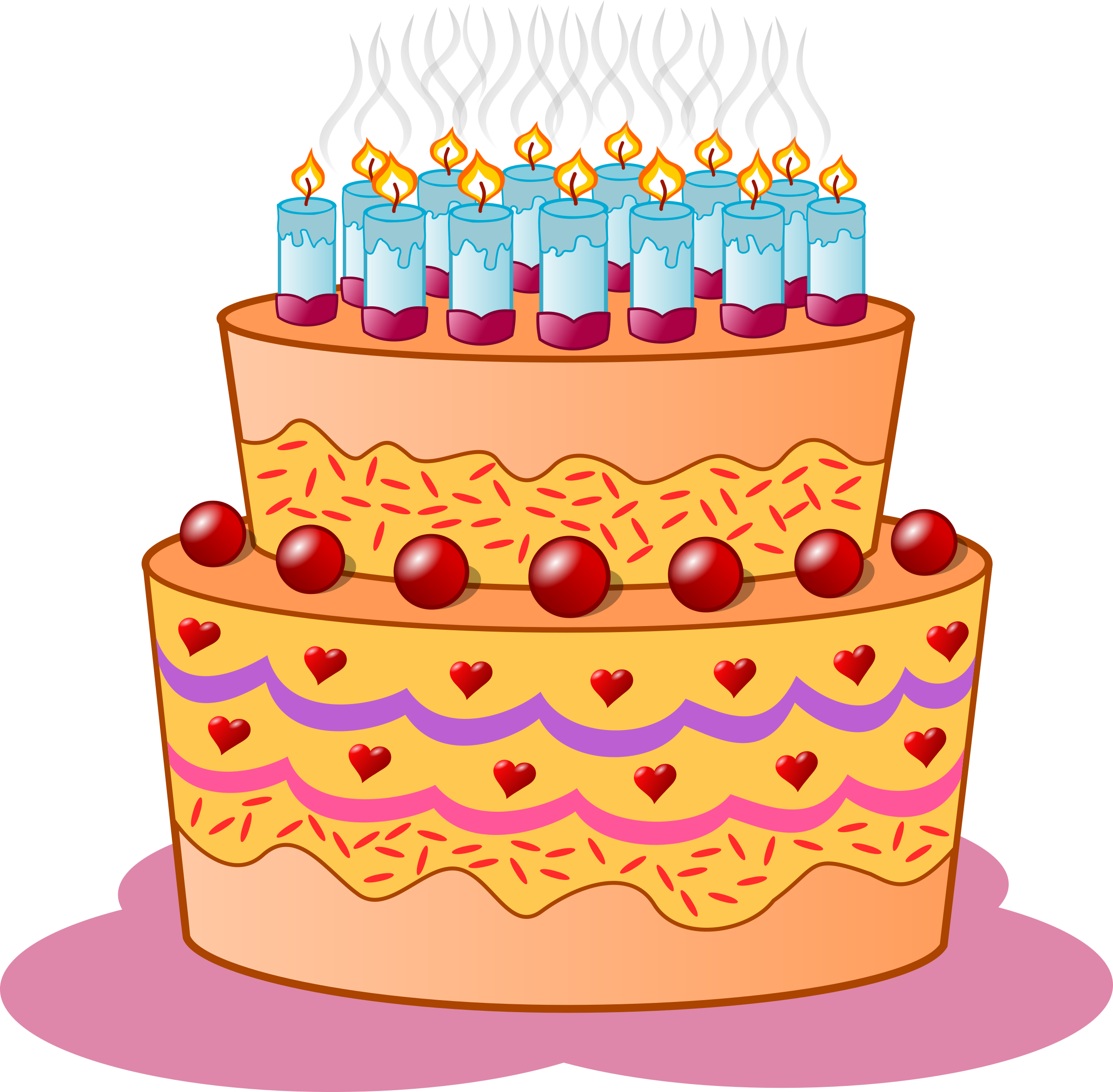 Big image. Birthday cake clipart png jpg black and white library