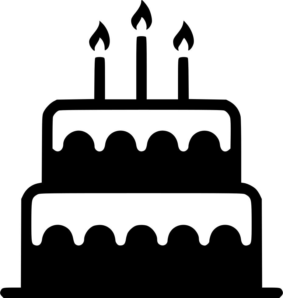 Birthday cake silhouette png. Free icon download food