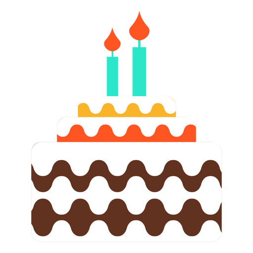 Birthday cake icon png. Two candles transparent svg