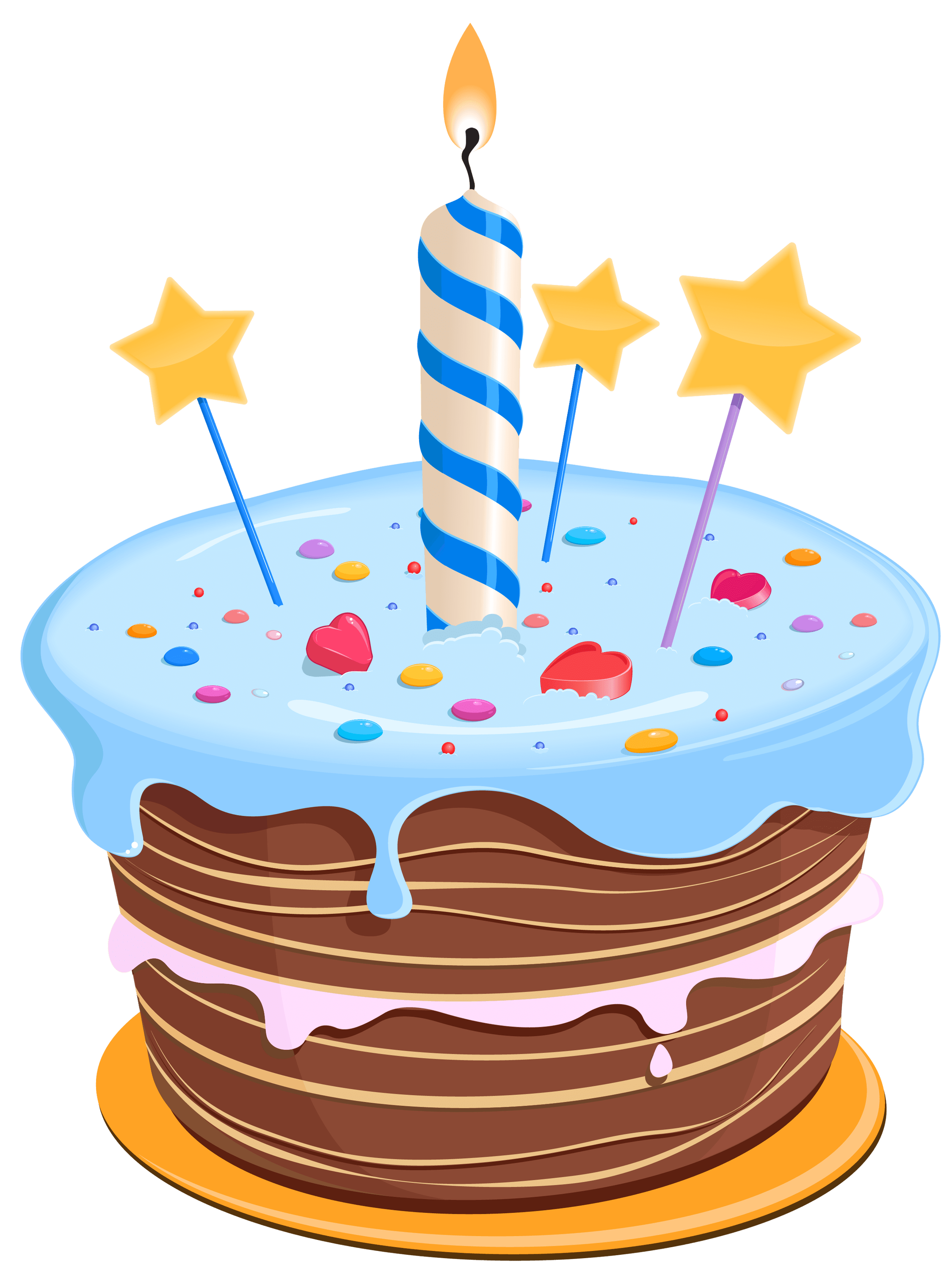 Birthday cake png transparent. Drawing blue stickpng