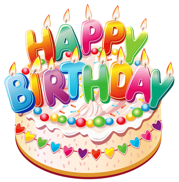 Birthday cake png transparent. Happy birthdaycake clipart picture