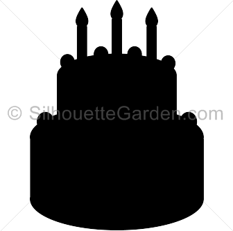 Birthday cake silhouette png.