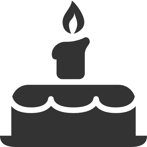 Birthday cake silhouette png. Cupcake food icon free