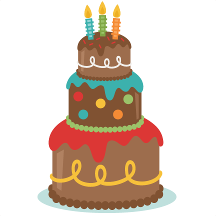 Svg scrapbook cut file. Birthday cake silhouette png picture black and white library