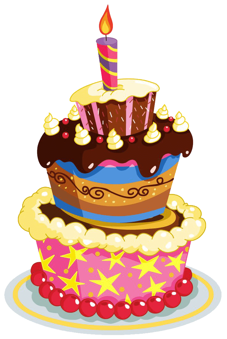 Vector layers cake. Birthday transparent png stickpng