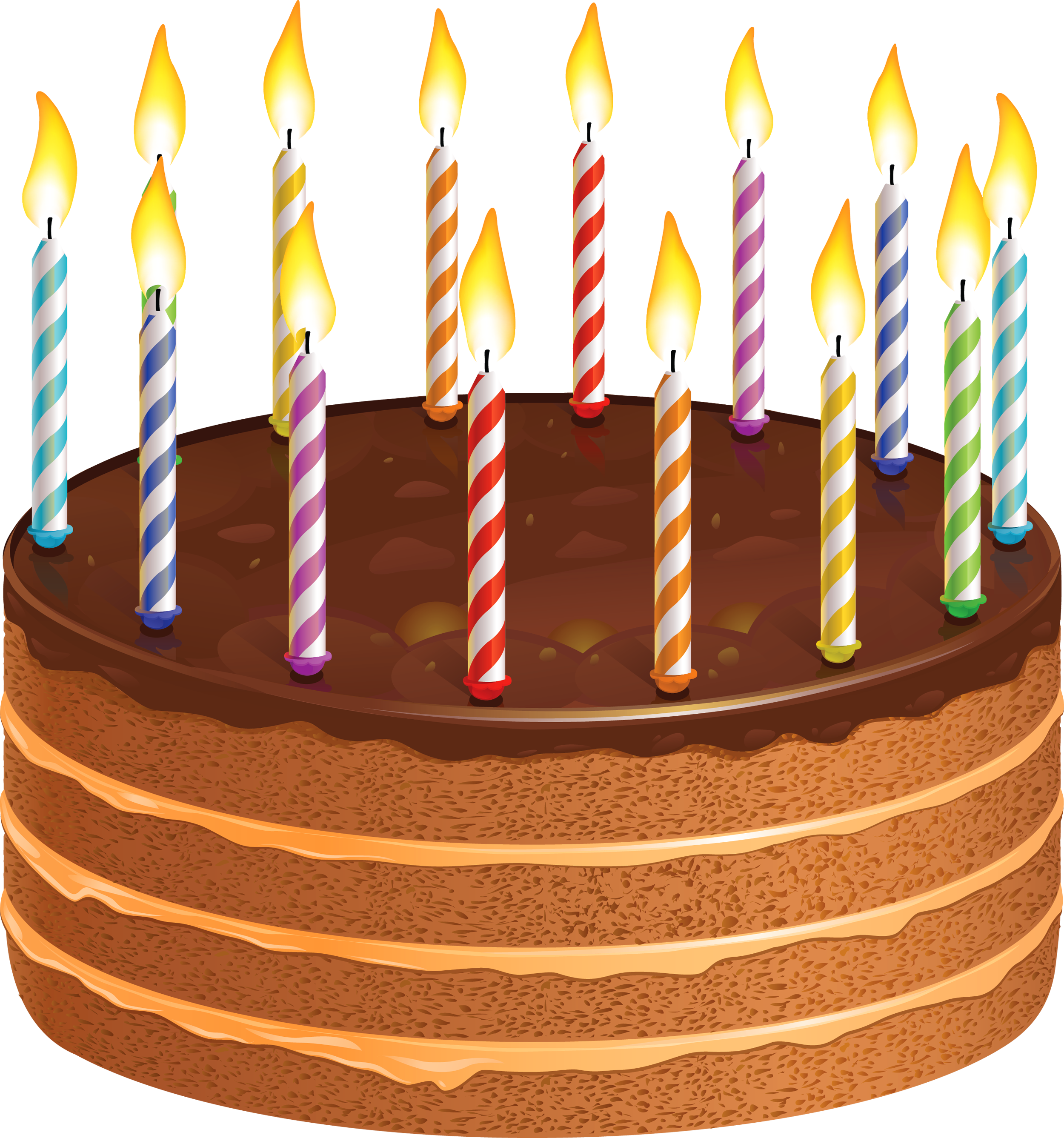 Birthday cake with candles png. Chocolate picture gallery yopriceville
