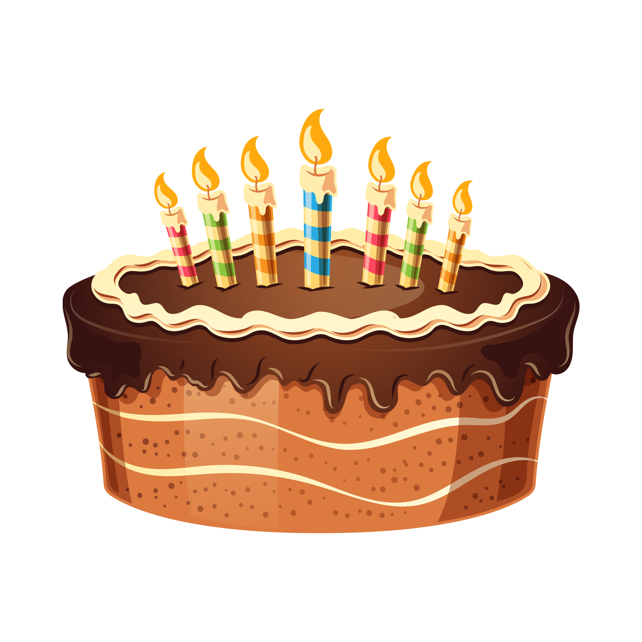 Birthday Cake With Candles Png Hd Image Free Download