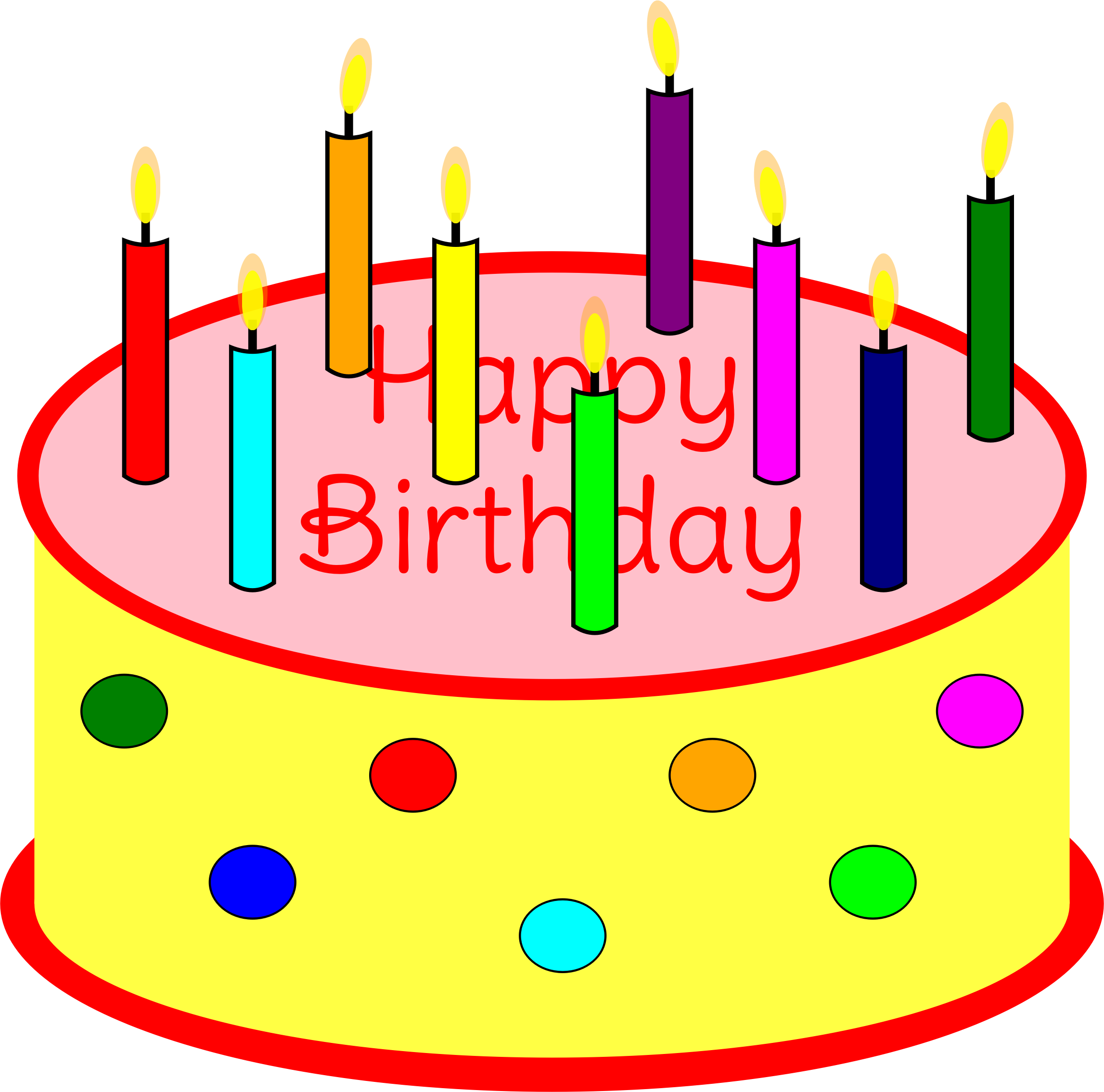 Birthday cake with candles png. Flickering candle icons free