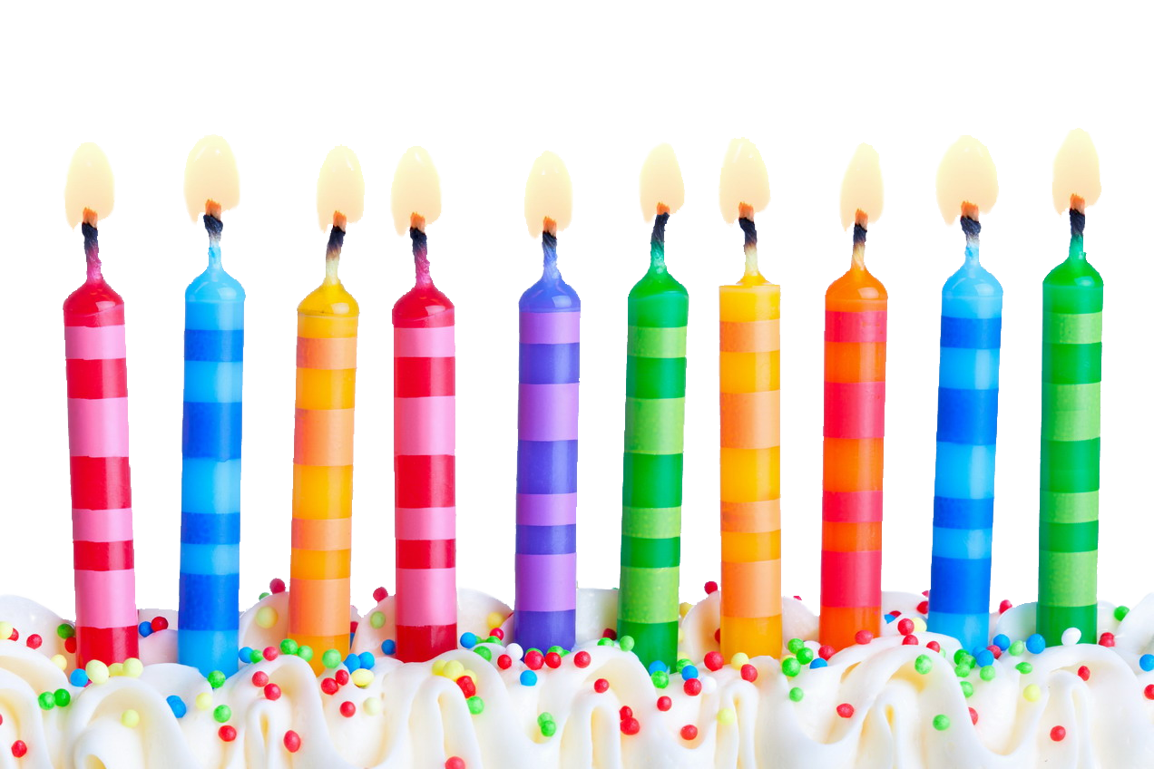 Happy birthday candles png. Transparent images pluspng free