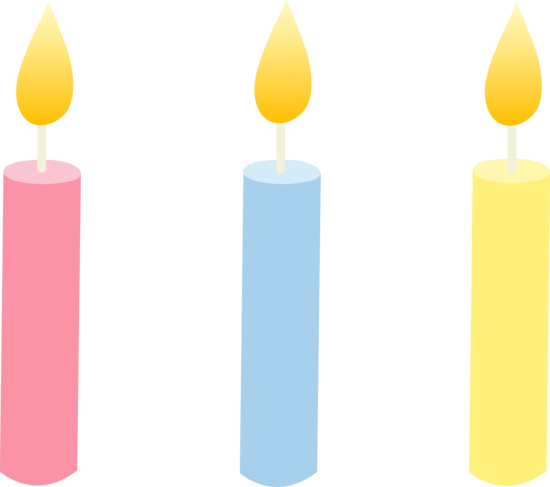 Drawing candles cute. Birthday transparent png pictures