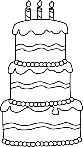 Birthday Candles Clipart Png Images Black And White Picture 434409