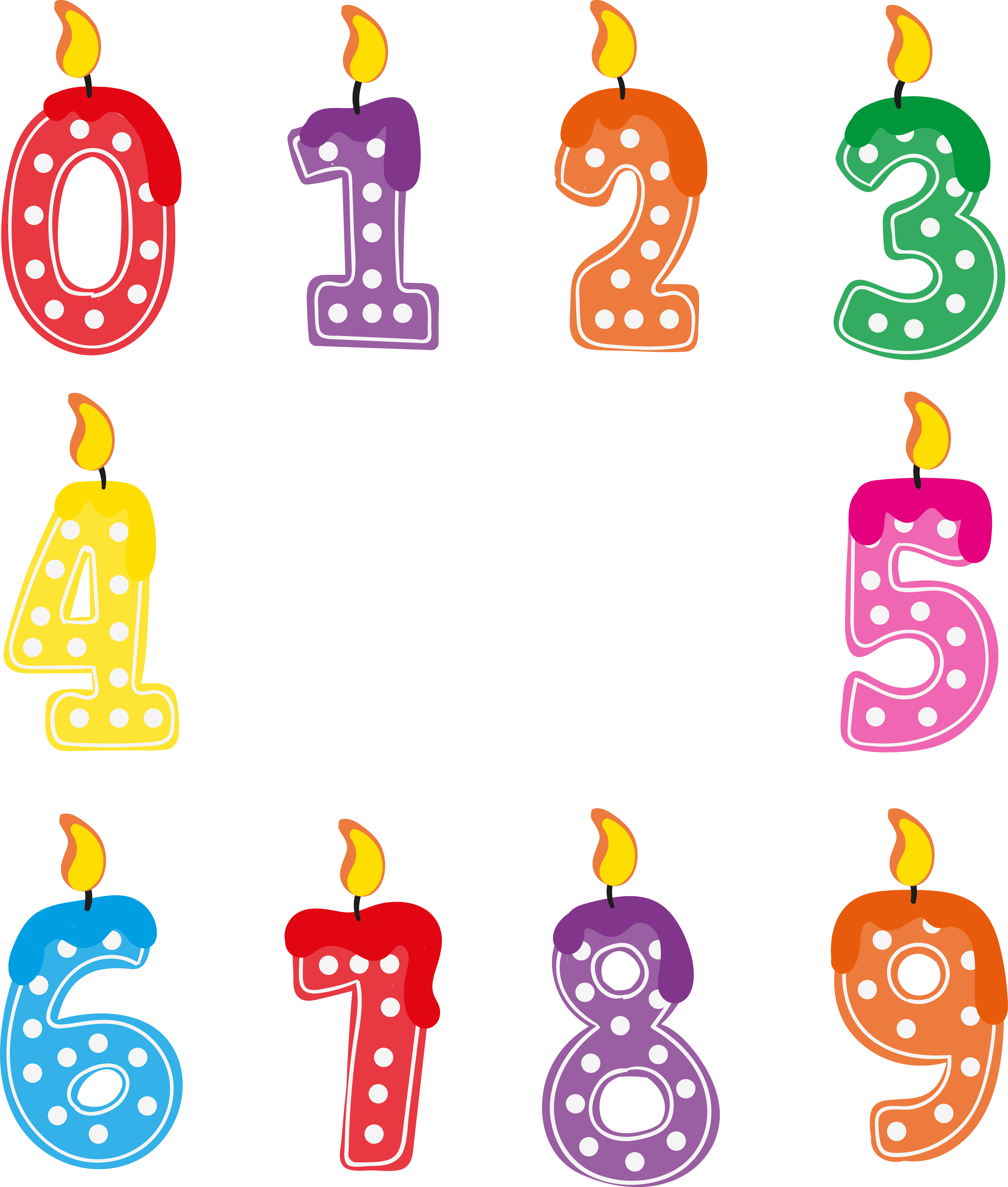 Birthday candles png images. Download free transparent image