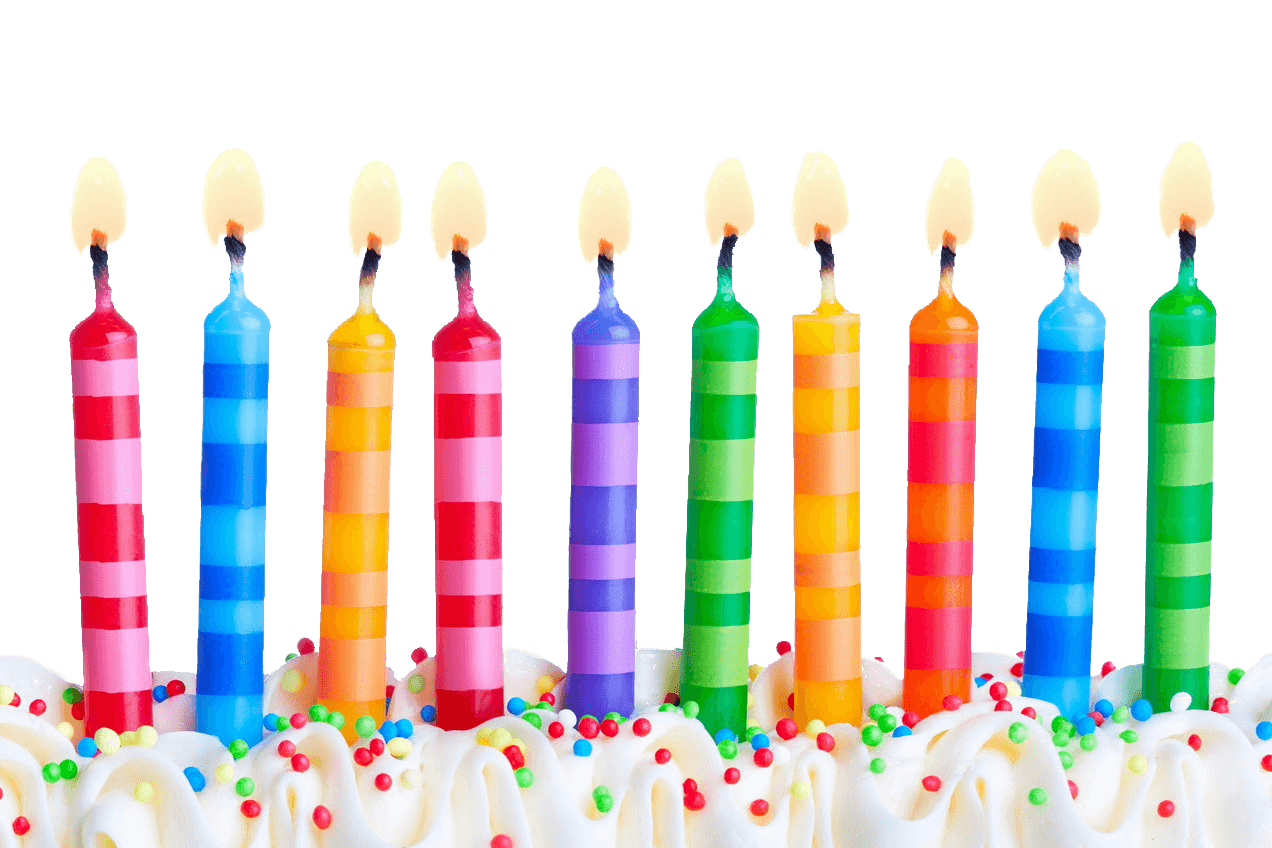 Birthday line png stickpng. Transparent candles banner transparent library