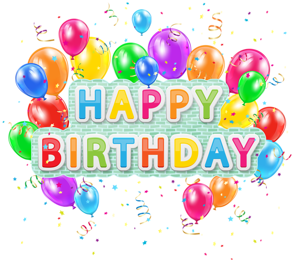 Birthday celebration png. Happy deco text with