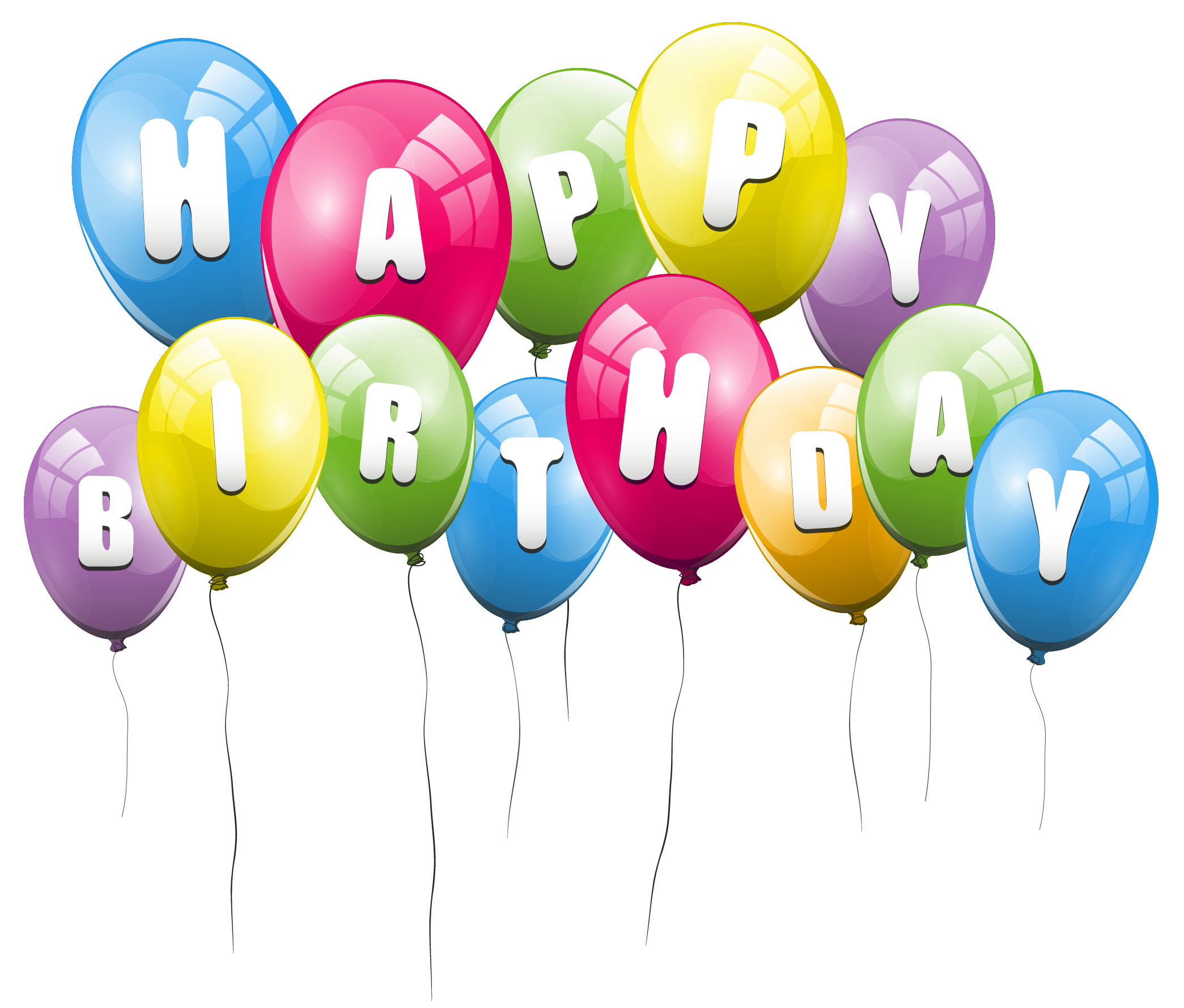 Transparent picture clipart gallery. Happy birthday balloons png clipart transparent download