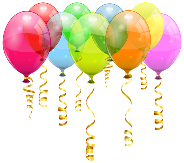 Balloon stick png. Colorful bunch clipart image