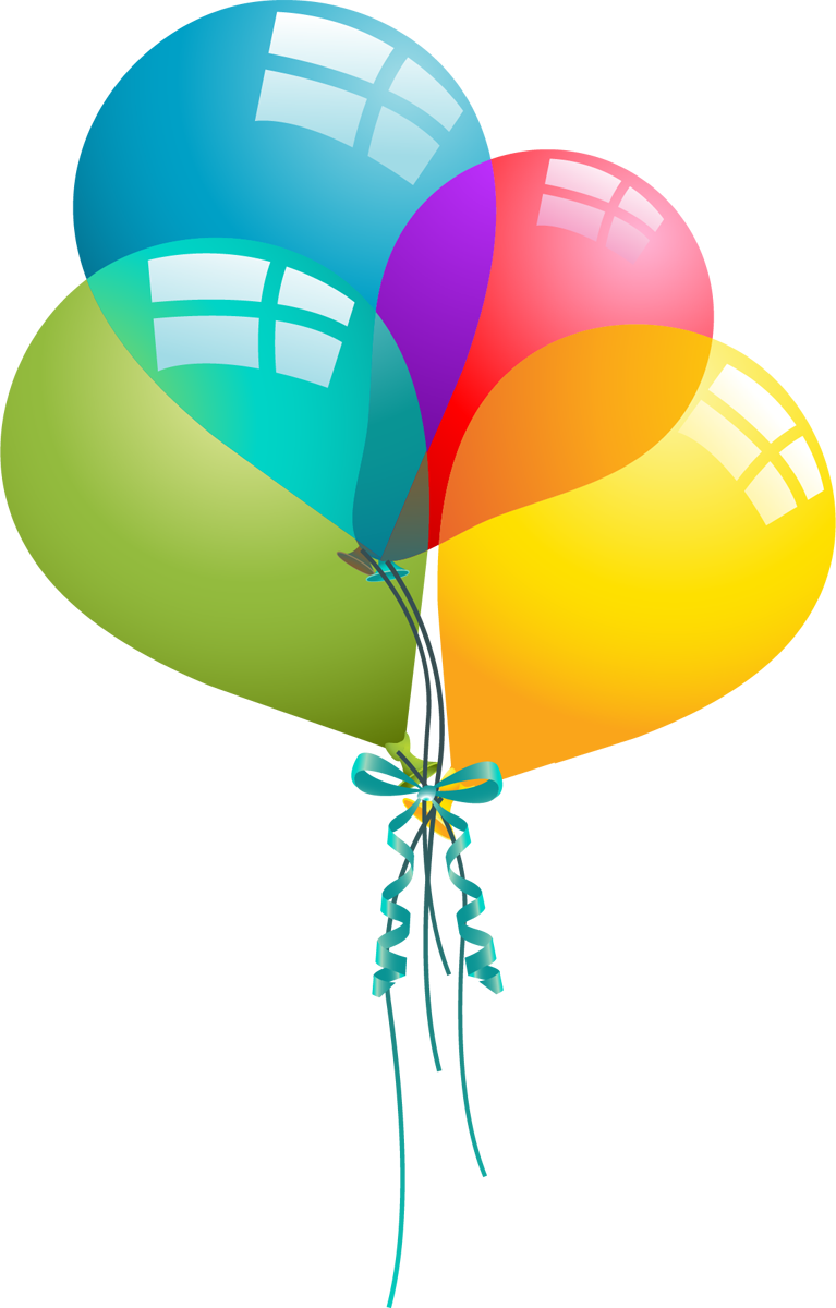 Birthday clipart. Free balloons cliparts download