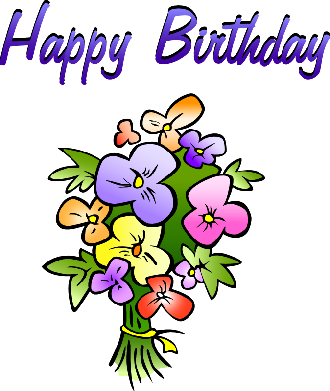 Birthday clipart. Free animations vectors floral