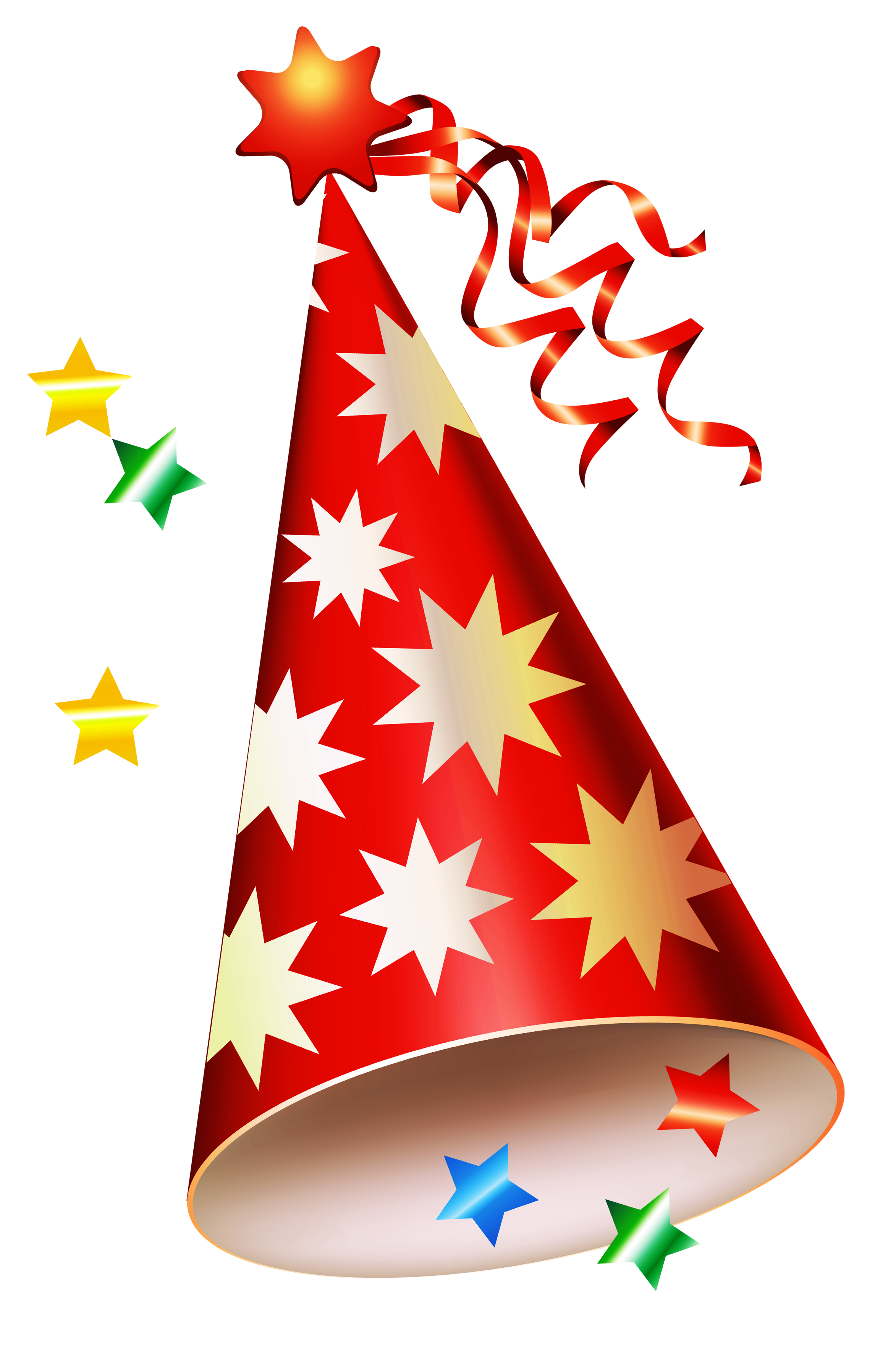 Birthday clipart hat. Red party transparent png