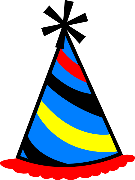 Birthday clipart hat. Free pictures of hats