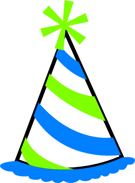 Birthday clipart hat. Transparent background panda free