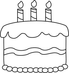 Birthday clipart outline. Best images of