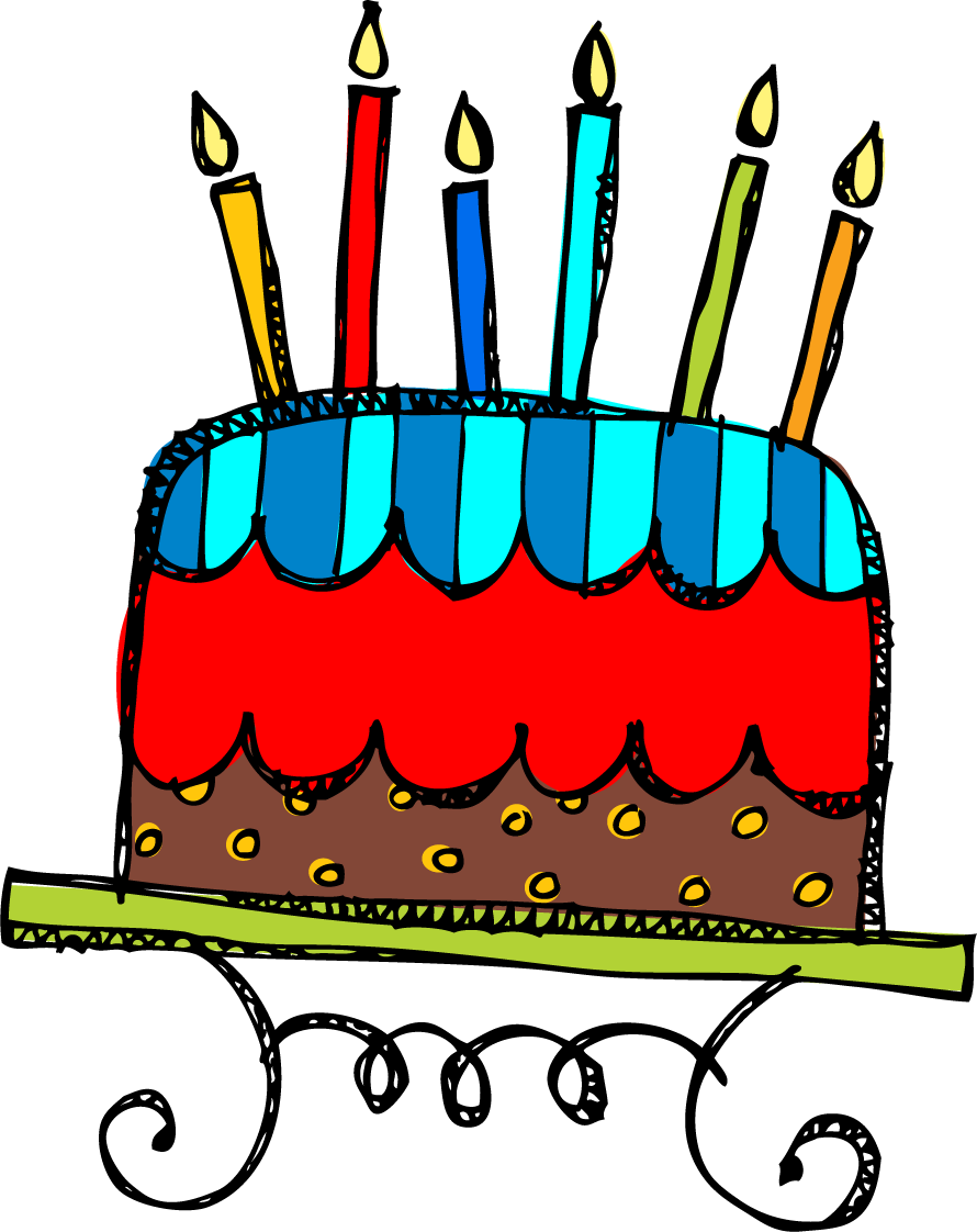 Stretching clipart everyday. Funny birthday cake on