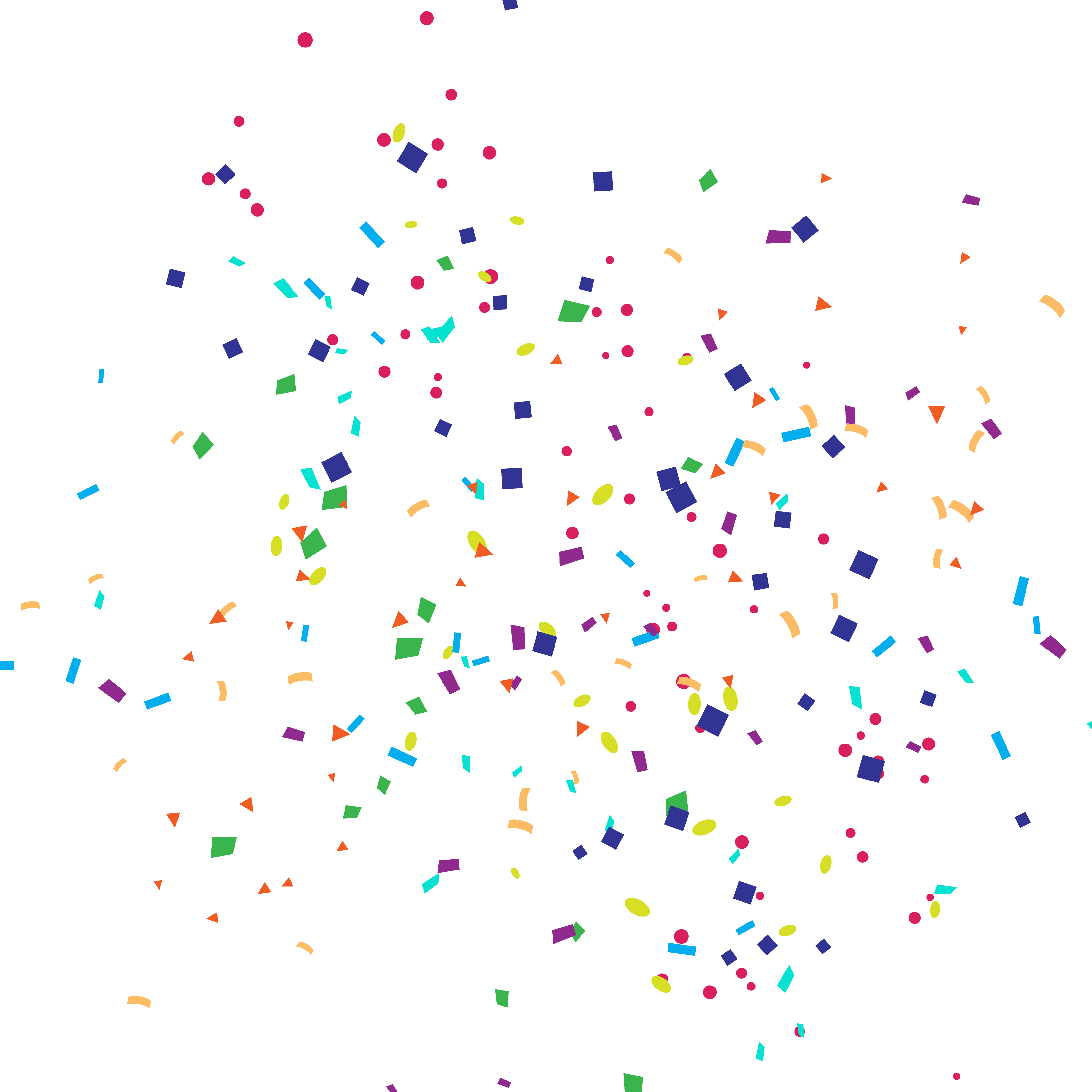 Birthday confetti png. Paper party cartoon happy