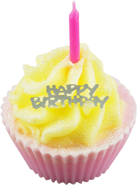 Transparent candles happy birthday. Download hd cupcake with