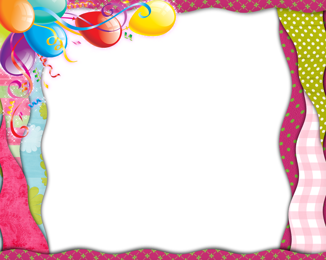 Happy birthday frames and borders png. Free download clip art