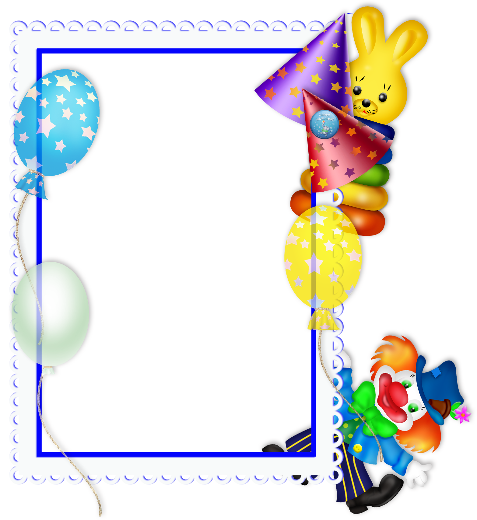 Birthday frames and borders png. Happy transparent party frame