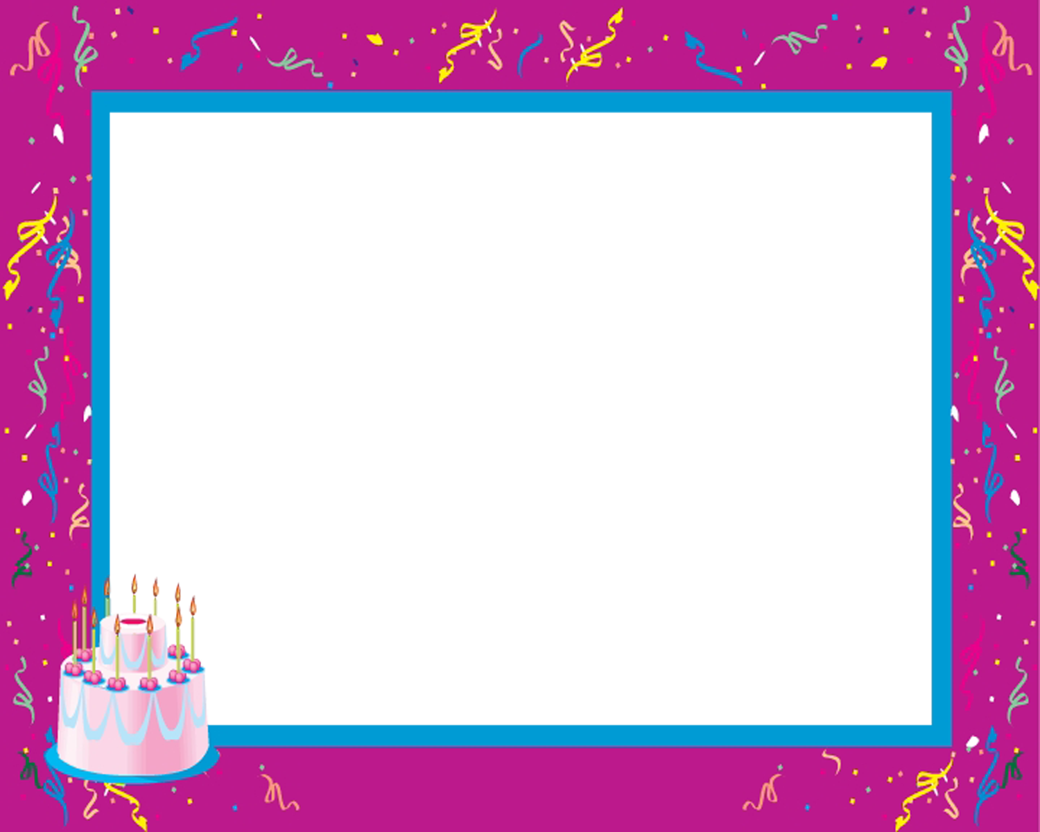 Birthday frames and borders png. Free frame download clip