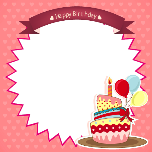 Birthday frames and borders png. Dorable happy motif custom