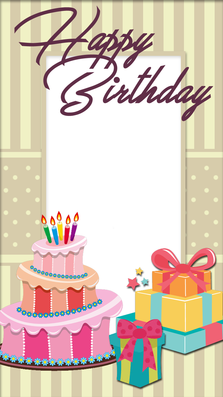 Birthday frames png. Pretty frame with cake