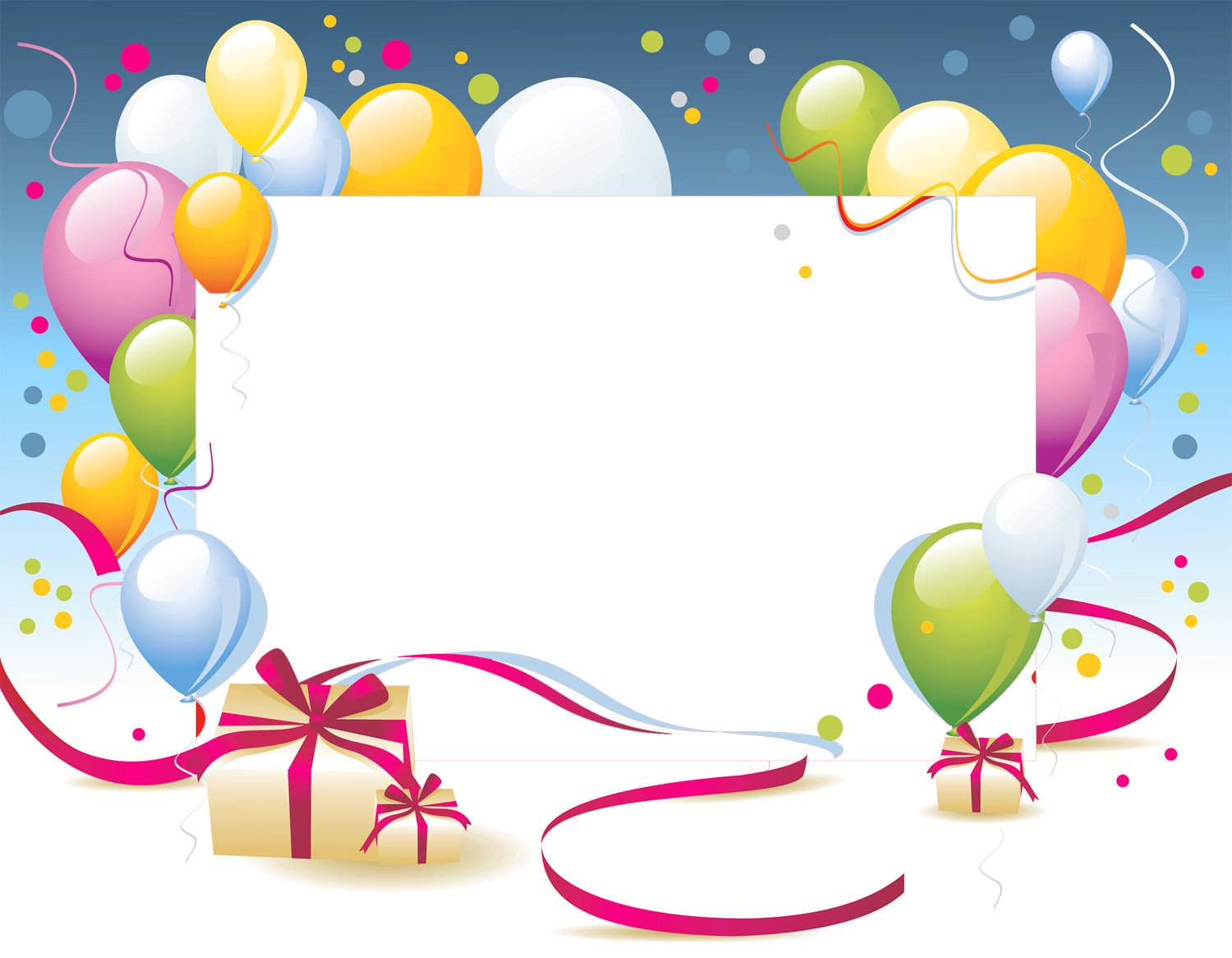 Birthday frames png. Transparent photo frame