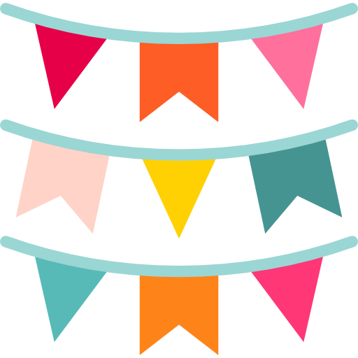 Party garland png. Flags decoration ornaments garlands