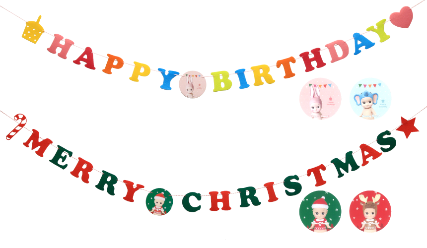Birthday garland png. Lineup sonny angel official