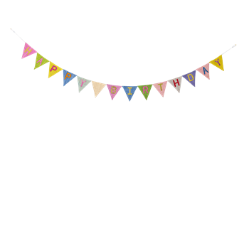 Party garland png. Birthday flag transparent images