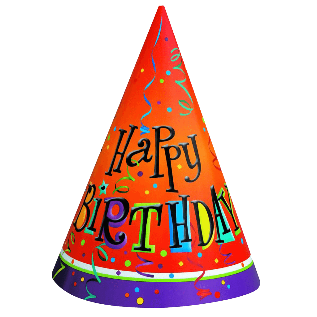 Birthday hat png. Transparent stickpng